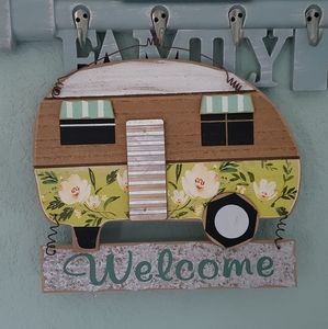 New Wooden Camper RV Welcome Sign